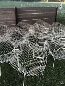 Vintage 1960's Harry Bertoia Knoll wire Diamond Lounge outdoor chair