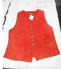 NEW STAVROS TERRACOTTA LEATHER VEST RRP $490 SIZE SMALL