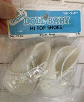 The Original Doll Baby Hi Top Shoes Vintage Fibre Craft 1984 New in package