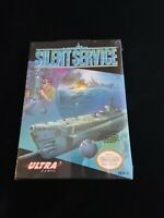 SILENT SERVICE Game FACTORY SEALED NEW Nintendo Entertainment System NES H-SEAM