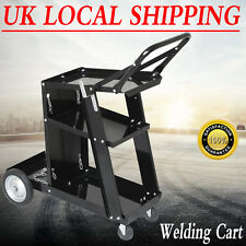 Black Welding Cart / Trolley For MIG TIG ARC MMA Welder Plasma Cutter Mobile HOT