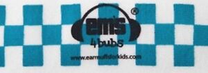 Em's 4 Bubs Baby Earmuffs Headband Only Newborn - 6 Months Blue & White