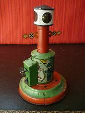 Very Rare 1920s Distler JDN Tin Wind-up Traffic Signal w/ Electric lighting