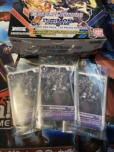 Digimon Double Diamond - Complete C/UC Set of 21 Purple Cards + 3 Random Rares