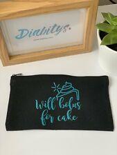 Diabetic Accessory Bag - Will bolus for cake aqua, Black Bag