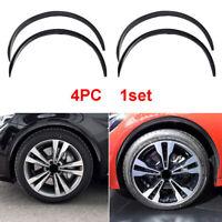 "4x 28.7"" Carbon Fiber Rubber Car Wheel Eyebrow Arch Trim Lips Fender Flares Kit"
