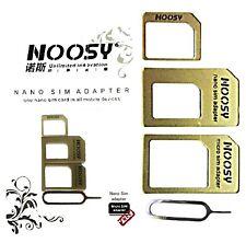 PREMIUM NANO MICRO SIM KARTEN ADAPTER HANDY SMARTPHONE NOOSY GOLD