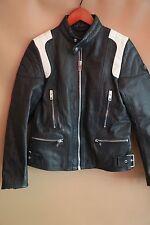 DIESEL Black Moto Leather Jacket Size S