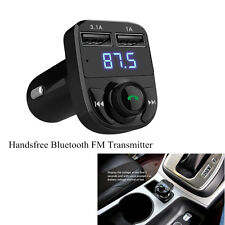 Car Dual USB Port Charger Handsfree Bluetooth FM Transmitter Music Adapter 3.1A
