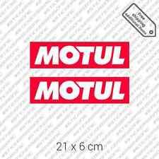 "2x MOTUL car bumper die cut sticker motor oil Honda 8.5 x 2.3"" 21 x 6 cm"
