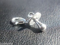 10 Silver Tone Baby Dummy Clip on Charms for Bracelet Wholesale Jewellery Joblot