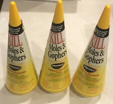 Lot Of 3 Sweeney's Poison Peanuts Pellets Bait Kills Moles Gophers S6006 Cones