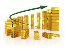 TWO - 0.10 (1/10) GRAM SOLID GOLD BARS .999 24k GOLD FINE BULLION SAVE .10