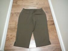 "AVENUE BROWN PULL ON CAPRI'S SIZE 14/16 - 20 3/4"" INSEAM"