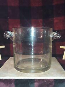 Vintage Handmade Large Glass Ice Bucket