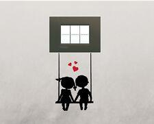 Adesivi per presa interruttore parete cameretta bambini altalena wall stickers