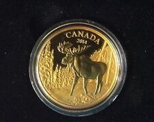 2014 Canada (99999) 1.1253 oz Proof Gold Canadian The Majestic Moose $ Free ship