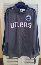 NWT Men's Size 3X Edmonton Oilers NHL Full Zip Reflective Track Jacket