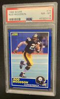 1989 Score Football #78 Rod Woodson PSA 8 NM-MT Pittsburgh Steelers Ravens HOF