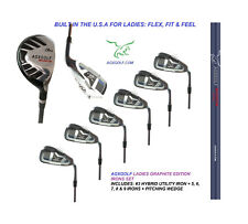 AGXGOLF LADIES RIGHT HAND GRAPHITE EDITION REGULAR LENGTH IRON SET 3 HYBRID+5-PW