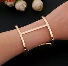 manchette bijoux bracelet doree