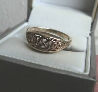 Clogau Welsh 9ct Rose & Yellow Gold Queen Eleanor Ring h/m 1998   -  size S
