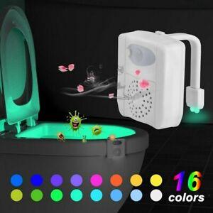 16Color LED UV Sterilization Toilet Light Color Changing Motion Sensor Activated