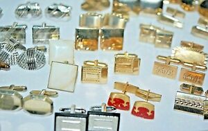 VINTAGE-TO-NOW  CUFFLINKS---MANY STYLES, SHAPES, STONES, COLORS AND BRANDS