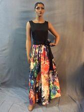Tahari Arthur S Levine Floral Print Halter Maxi Ballgown Size 10, Retail $239