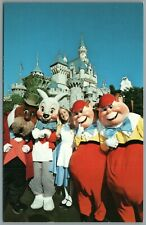 Vintage Postcard Disneyland Anaheim Ca Alice in Fantasyland Walrus Rabbit disney