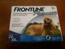 Frontline Plus 23 to 44 lb Flea & Tick Control Medium Dogs, 3 Doses EPA APPROVED