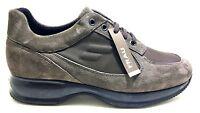 FRAU 24F4 EBANO scarpe uomo pelle camoscio nero sneakers casual interactive