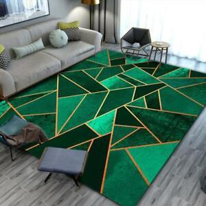 Dark Green Carpet Living Room 3D Printed Geometric Area Rug Kitchen Floor Mat