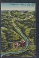 42810) AK Kitzingen a. M. und Umgebung Landkarte 1917