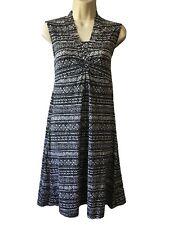 OLSEN Women UK 10 A Line Dress Casual Daydress Monochrome Geometric Print