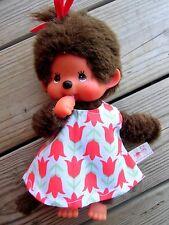 KLEIDUNG Kleid Tunika für Monchichi Teddy bär Gr. 20 cm Tulpen Bekleidung NEU