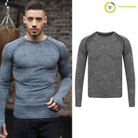 Tombo Sports Seamless Long-Sleeved Running T-Shirt (TL311) - Gym Workout Top