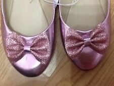 Baby Girls Size 5 Shiny Pink Sparkly Shoes - Brand New