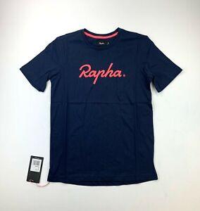 RAPHA Logo Tee Shirt Navy / Pink Men's Small New