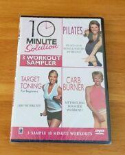 10 Minute Solution 3 Workout Sampler Pilates Target Toning Carb Burner DVD New