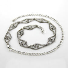 Silver Diamante/Diamond Ladies Waist Chain/Charm Belt - One Size Fits All - 229