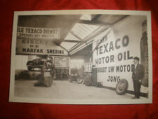 Texaco Photo Postcard with Peugeot