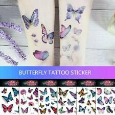 6 Sheet Kids Butterfly Temporary Tattoo Stickers Body Art US