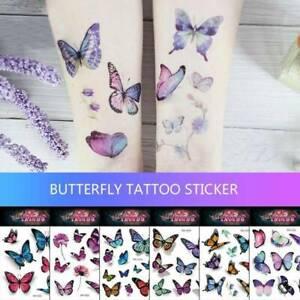 25 Sheet Kids Butterfly Temporary Tattoo Stickers Body Art US
