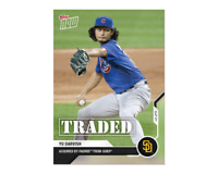 Yu Darvish 2020 MLB TOPPS NOW Card OS-37 Chicago Cubs to San Diego Padres Traded