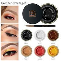 6 Colors Waterproof Lasting Eyeliner Gel Cream Eye Shadow Stain Makeup Cosmetic