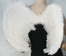 WHITE FEATHER WINGS Sexy Fallen Angel Gothic Fancy Dress Halloween Costume 81250
