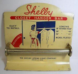 Vintage Shelby Closet Hanging Bar Sample Display Advertising