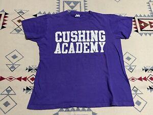Cushing Academy Penguins Champion Vintage 70s 80s Purple Shirt Size M D2