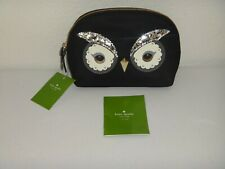 Kate Spade Owl Small Marcy Star Bright Pouch Bag Cosmetic Embellishment